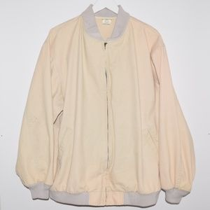 Vintage L.L. Bean Cotton Bomber Jacket Tan